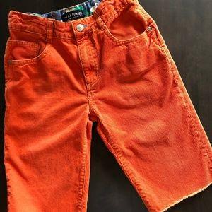 Mini Boden corduroy shorts orange boys size 11